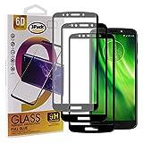 Guran [3 Stück Gehärtetes Glas Bildschirmschutzfolie für Motorola Moto G6 Play/Moto E5 Smartphone Full Coverage HD Schutzfolie Film Kompatibel Panzerglasfolie - Schwarz