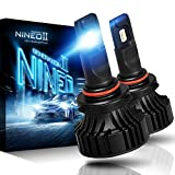 NINEO 9005 HB3 LED Bulbs - CREE Chips - 12000Lm 6500K Extremely Bright All-in-One Conversion Kit,360 Degree Adjustable Beam Angle|Fog...