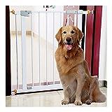 Barreras de puerta Puerta De Seguridad Plegable for Mascotas Bebés, Doble Bloqueo Paso A Través Escaleras Jardín Protectores De Rieles Cerramiento Automático Cerca For Mascotas Juego Perros Puertas Pa