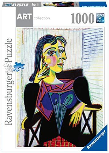 Ravensburger Puzzle 1000 Piezas, Pablo Picasso: Portrait of Dora Maar, Arte, para adultos, Rompecabezas de calidad