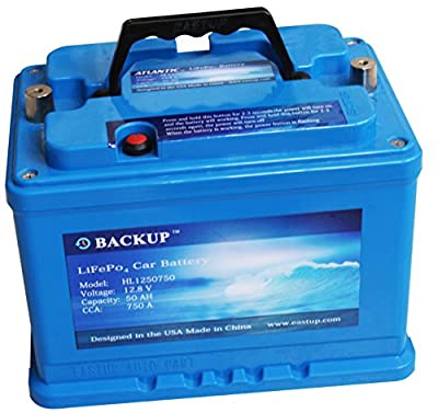 Eastup Lithium Iron Phosphate (LiFePo4) Automotive Replacement Battery 25/50AH, 750A CCA, 10 Years Lifetime. …