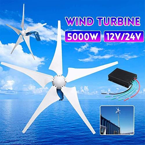 Fangfang Turbina de Viento, 5000W generador de Viento 12V / 24V 5...