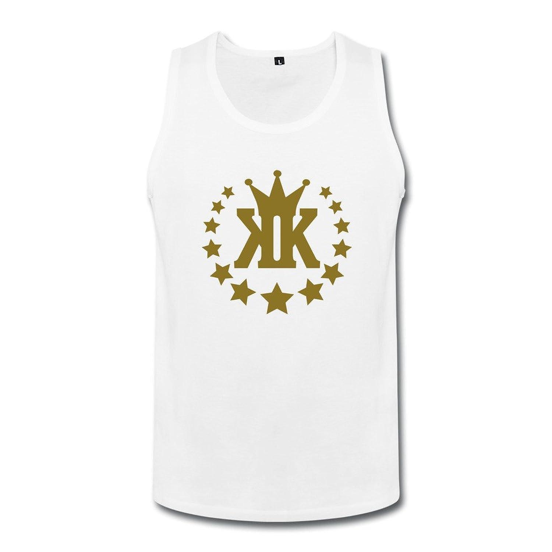 成人 かわいい KK スター 星の王冠 ランニング シャツ タイツ White