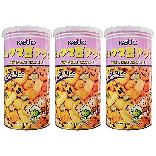 Kabuto Korean Mixed Rice Crackers (3 Pack, Total of 19.02oz)