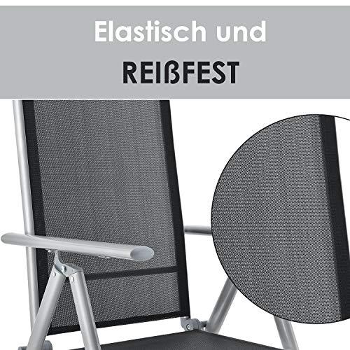 ArtLife Aluminium Gartengarnitur Milano | Gartenmöbel Set mit Tisch und 8 Stühlen | Silber-grau mit schwarzer Kunstfaser | Alu Sitzgruppe Balkonmöbel - 4