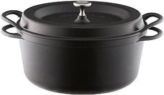 バーミキュラ オーブンポットラウンド 26cm 無水 ホーロー鍋 専用レシピブック付 マットブラック SUMI(炭)