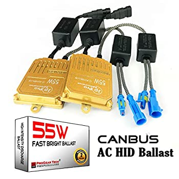 55W Heavy Duty Fast Bright AC Digital CANBUS HID Xenon Replacement Ballast for 12V Vehicles Aftermarket HID System  Pack of 2