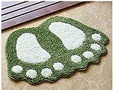 Tapis de salle de bain antidérapant super eau absorbent les grands pieds en forme de...