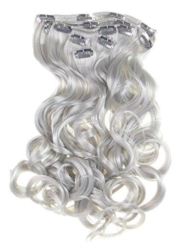 Toutes les couleurs disponibles, Pince Extension De Cheveux Gris Argenté