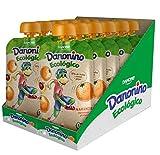 Danonino Pouch sin azúcares añadidos: Alimento Infantil Ecológico Con Naranja, Manzana ...