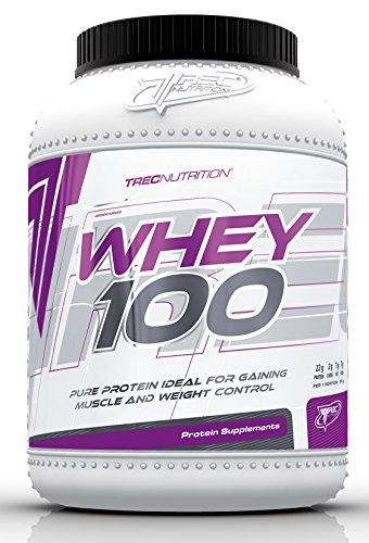 Trec Nutrition Whey 100 Protein Eiweiß Molkenprotein Supplement Eiweißshake Proteinshake Bodybuilding (2275g Dose Schokolade)