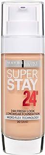 3 x Maybelline Superstay 24H Fresh Look Longwear Foundation 30ml - 030 Sand