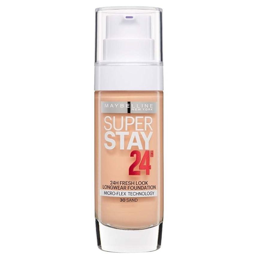 かすかなハブスポンジ2 x Maybelline Superstay 24H Fresh Look Longwear Foundation 30ml - 030 Sand