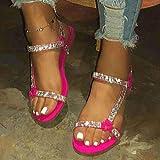 El secado rápido del dedo del pie zapatos de la casa abierta, sandalias de tacón de cuña con diamantes de imitación y zapatillas, zapatos y nueve red_39 playa, bajo la cuña del dedo del pie del resbal