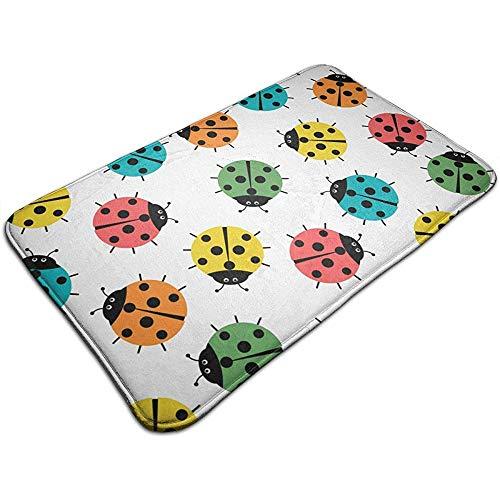 Liumt lieveheersbeestje in de kleuren badmat, antislip, 40 x 60 cm