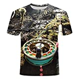 RelaxLife Hombre 3D Estampado Camiseta Pesca Hombres Ocio Camiseta De Impresión 3D, Camiseta Divertida De Hombres Y Mujeres con Estampado De Pescado...