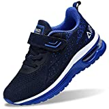 Autper Kids Air Tennis Running Shoes Memory Foam Athletic Lightweight Sports Walking Sneakers for Boys Girls (Big Kid Blue US 3)