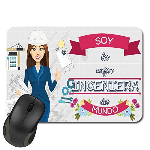Kembilove Alfombrilla de ratón para Ingeniera - Esta Alfombrilla de ratón Pertenece a la Mejor Ingeniera del Mundo - Regalo Original Personalizado (Ingeniera)