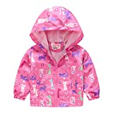 Kids Jackets Girls Boys Cartoon Zipper Coat Jacket for Toddler Birthday Christmas Clothes 2T 3T Rose Red(Style 06,110)