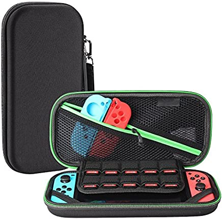 GANA Carry Case Compatible With Nintendo Switch - BLACK Protective Hard Portable Travel Carry Case Shell Pouch for Nintendo Switch Console & Accessories