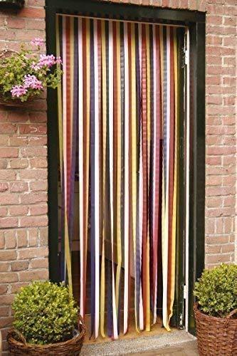 DRULINE Türvorhang Insektenschutzvorhang Insektenschutz Vorhang Tür Fliegengitter Streifenvorhang 90x210 cm