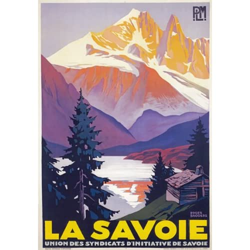 Vintage Lac Majeur Lake Maggiore French Tourism Poster Print A3//A4