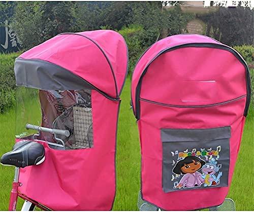 WSYGHP Fahrrad-Kindersitz-Rücksitz, winddicht, Sonnenschutz, Regenschutz, vier Jahreszeiten, universell, warme Strahlung, Fahrradsitz für Kinder (Farbe: A)
