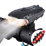 Bike Light Set, USB Super Bright Rechargeable Bicycle Lights,Waterproof Mountain Road Bike Lights, Multiple Lighting Mode, 400 Lumen Front Headlight & 100 LM Tail Light for Mountain & Road