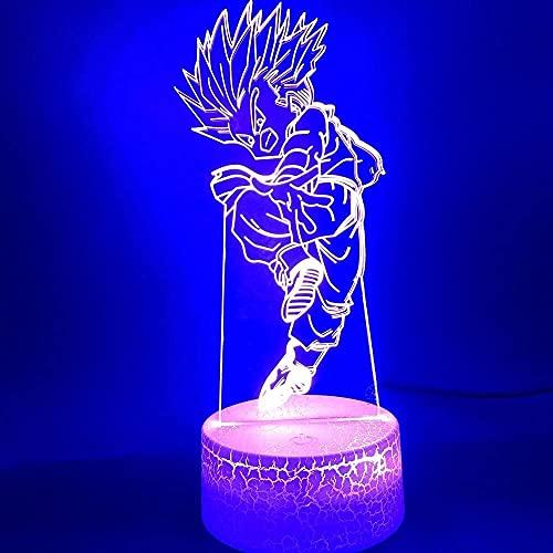 Lámpara de ilusión 3D luz de noche LED de iluminación de iluminación de iluminación de iluminación Wukong Adecuado para niños Habitación Table Noche Cumpleaños Regalo de cumpleaños