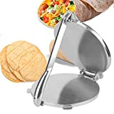 Electric Tortilla Maker, 10.2in Non-Stick Tortilla Press No Need Rolling Pin Traditional Heavy Gauge Flour Corn Press Aluminum Alloy for Kitchen Baking
