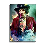 YuHui Jimi Hendrix Leinwand Kunstplakat und Wandkunst