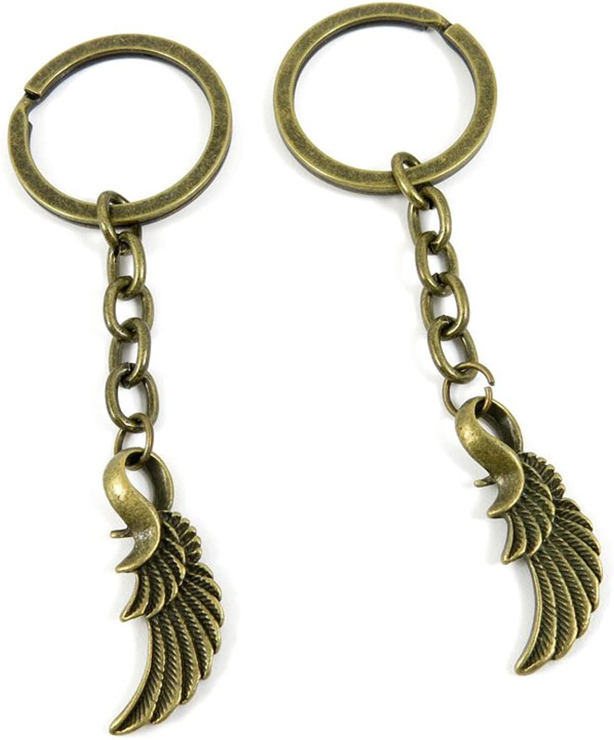 180 Pieces Fashion Jewelry Keyring Keychain Door Car Key Tag Ring Chain Supplier Supply Wholesale Bulk Lots R2PM9 Angel Wings
