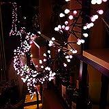 Yinyimei Guirnalda Luces 3M 400 LED Luces de Cadena Petardos 8 Modos de Memoria a Prueba de Agua al Aire Libre Luces Decorativas for el Partido Patio Boda de Navidad