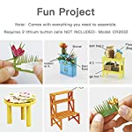 """Rolife DIY Dollhouse Miniatures Craft Kits for Adults (Kathy's Green House) 11 7.7"""" X 6.9"""" X 6.9"""" assembled, recommended age is 14 years or older. TOP GIFT for ADULTS AND KIDS.Ideal Christmas, birthday, or holiday gift for a gardener, hobbyist, or craftsperson. Great for a STEAM related gift too! Create an intricately detailed wooden flower house to capture and preserve the beauty of nature. The time spent building this miniature DIY greenhouse is as enjoyable as it is visually stunning."""