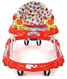 Nagar International Baby Walker and Attractive Toys 6+ Months Baby (Red Sun)