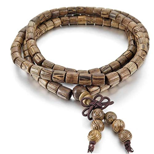 Hotaden 6mm Wood Bracelets Wrist Bracelet Links Tibetan Buddhist Brown Buddha Beads Prayer Prayer Chinese Knot Elastic Man Woman