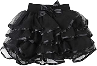 Little Big Girls Tulle Tutu Skirt Fluffy Layered Holiday Party Dress Up Skirts 2-13 Years