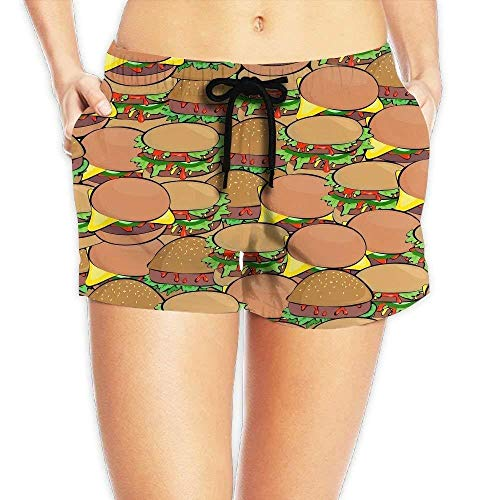 Dames Elastische Taille Casual Beach Shorts Trekkoord Zoete Donut Shorts Zwembroek