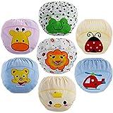 Lictin Culotte d'apprentissage Bébé, Lot de 7 Apprentissage de La Culotte Bébé Fille/Garçon Coton, pour Bébé 1.5 à 3 Ans (M)