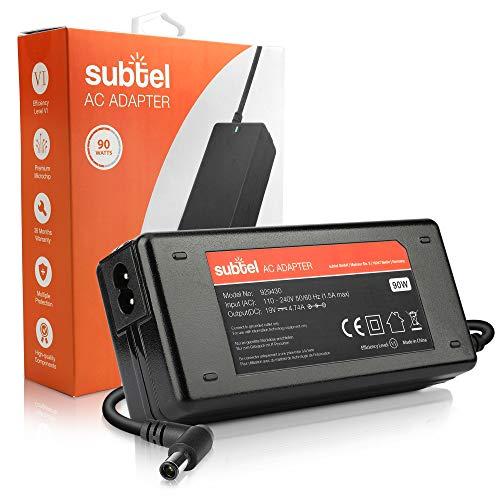 subtel Fuente de Alimentación 19V 40W Compatible con HP Compaq/Compaq Presario/EliteBook 8470P 8460P / Envy/Pavilion DV7, DV6 / ProBook - Cable Corriente 2.6m Cargador Rapido Ordenador Portatil
