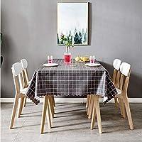 長方形のテーブルクロス、台所のコーヒーテーブルのレストランの装飾のためのポリ塩化ビニールの反火傷防止そしてオイル証拠を洗う必要性無し (色 : D, サイズ さいず : 53.1''*78.7'')