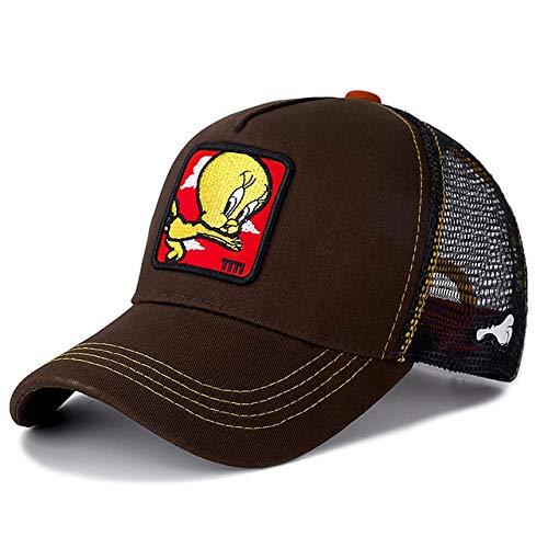 Gorra de béisbol de algodón Snapback Hombres y Mujeres, Gorra de Camionero de Malla de papá Hip Hop-TITI