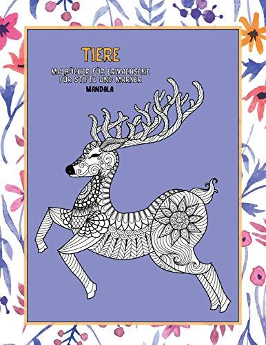 Malbücher für Erwachsene für Stifte und Marker - Mandala - Tiere
