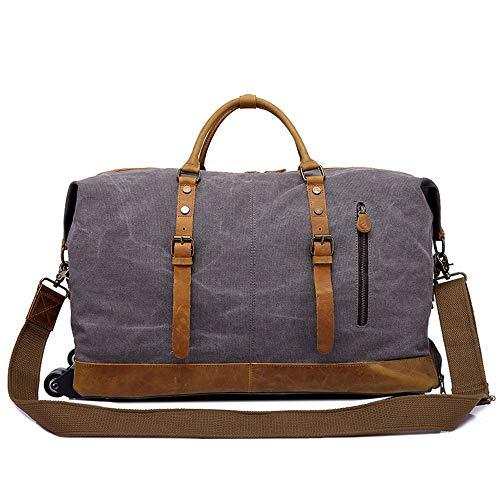 RongDuosi Draagbare Trolley Travel Bag Mannen Multifunctionele Retro Messenger Bag Canvas Bag Menselijk Lichaam Gewichtsreductie Systeem 55 * 24 * H40CM Outdoor rugzak Zwembed