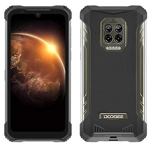 DOOGEE S86 Outdoor Smartphone ohne Vertrag, 8500mAh Akku, Helio P60 6GB+128GB, IP68&IP69K Wasserdicht Handy, 2W Lautsprecher, 16MP Quad-Kamera, 6.1 '' Corning Gorilla Glas NFC, 4 LED blinkt,Schwarz