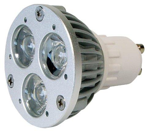 Transmedia LP2-33SL Power Spot LED 230 V 3 x 1 W GU10 Blanc Chaud
