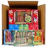 Candy Cane Mixed Pack - Dum Dums, Smarties, Jelly Belly - 144 individual, 12 ct x 12 packages