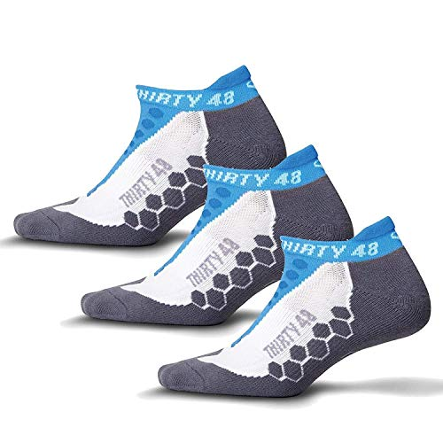 Thirty48 Running Socks for Men and Women Features Coolmax Fabric That Keeps Feet Cool & Dry - 1 Pair or 3 Pairs