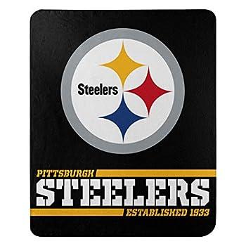 Northwest NFL Pittsburgh Steelers 50x60 Fleece Split Wide DesignBlanket Team Colors One Size 1NFL031040078RET