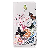 iPhone 8 Plus プラス レザー ケース, 手帳型 アイフォン 8 Plus プラス 本革 カバー収納 財布 携帯ケース 全面保護 ビジネス 無料付スマホ防水ポーチIPX8 Business